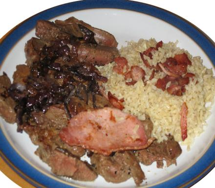 Image of Lamb's Liver and Bacon with Savoury Rice