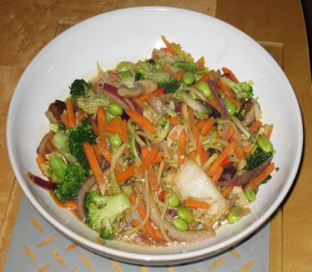 Image of Spicy Stir Fried Vegetables with Seaweed Sauce