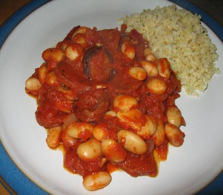 Image of Spicy Chorizo Stew with Butter and Cannellini Beans