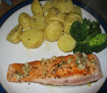 Image of Pan Fried Salmon with Tarragon Butter