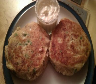 Image of Smoked mackerel and potato cakes