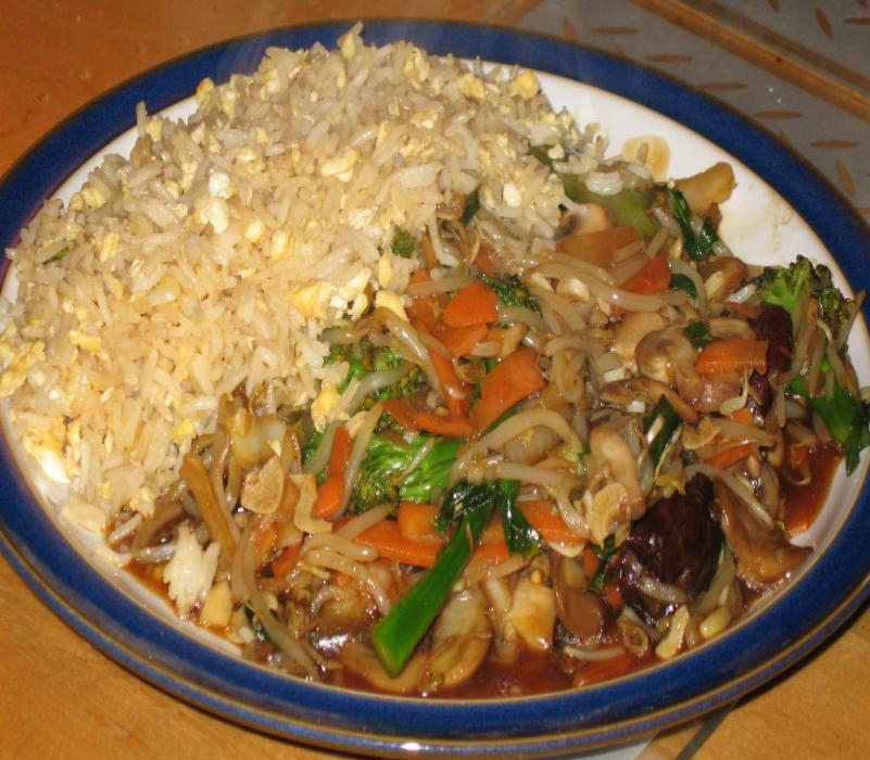Image of Stir-fried Vegetables with Egg Fried Rice