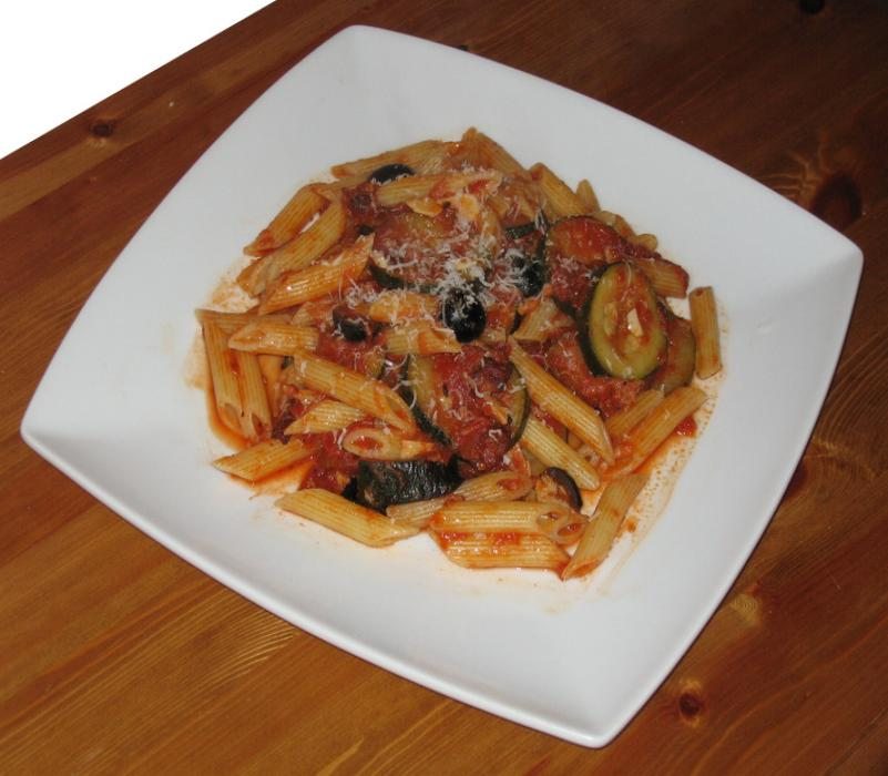 Image of Sarah's Spicy Smoked Bacon and Courgette Penne