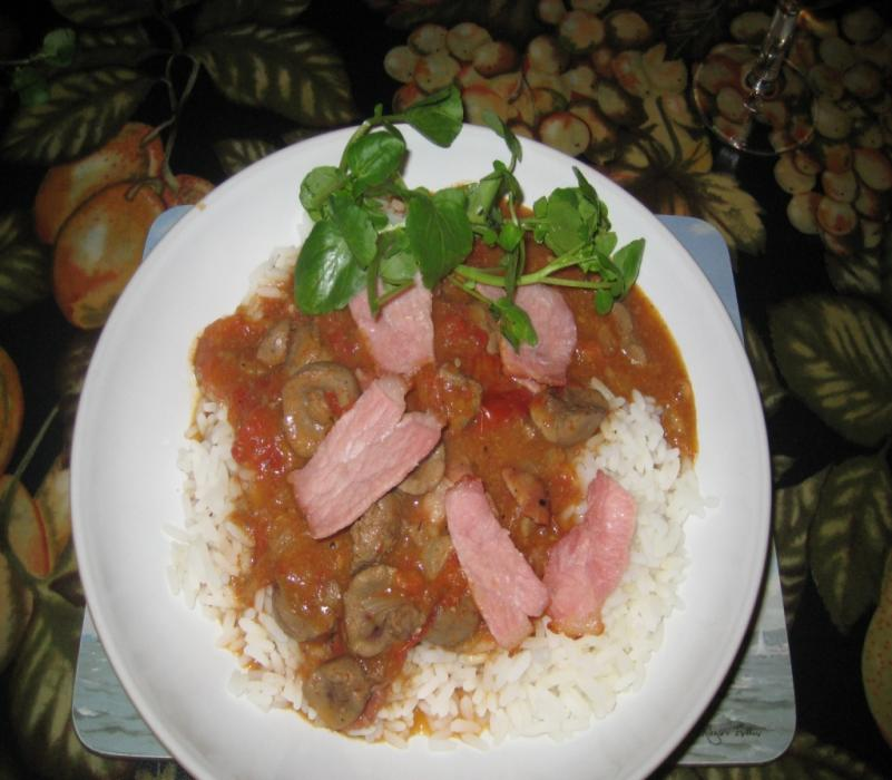 Image of Stewed Lambs Kidneys with rice