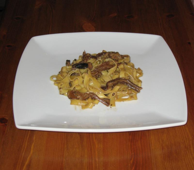 Image of Tagliatelle in a Mushroom Cream Sauce