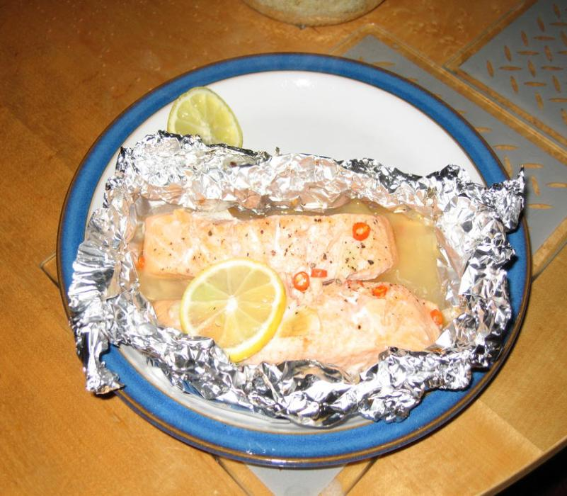 Image of Spicy Salmon en Papillote