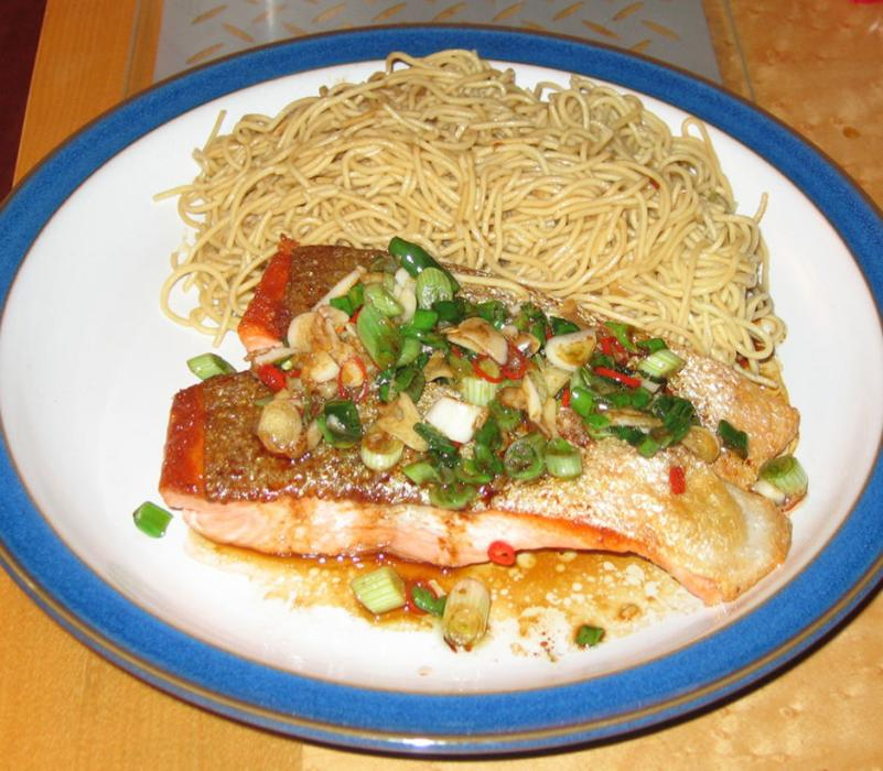 Image of Spicy Chinese Trout with Garlic Ginger and Chilli