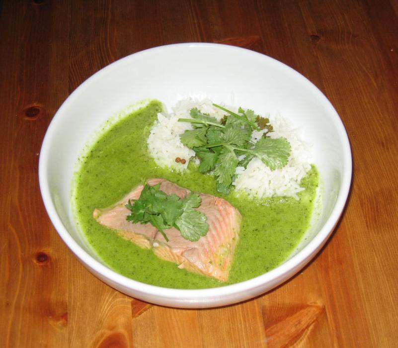 Image of Trout in a Thai Green Curry Broth